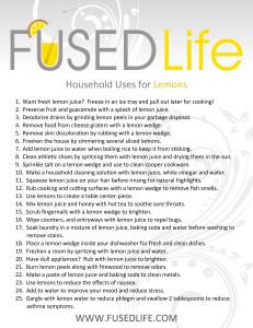 Household Uses for Lemons Fused Life
